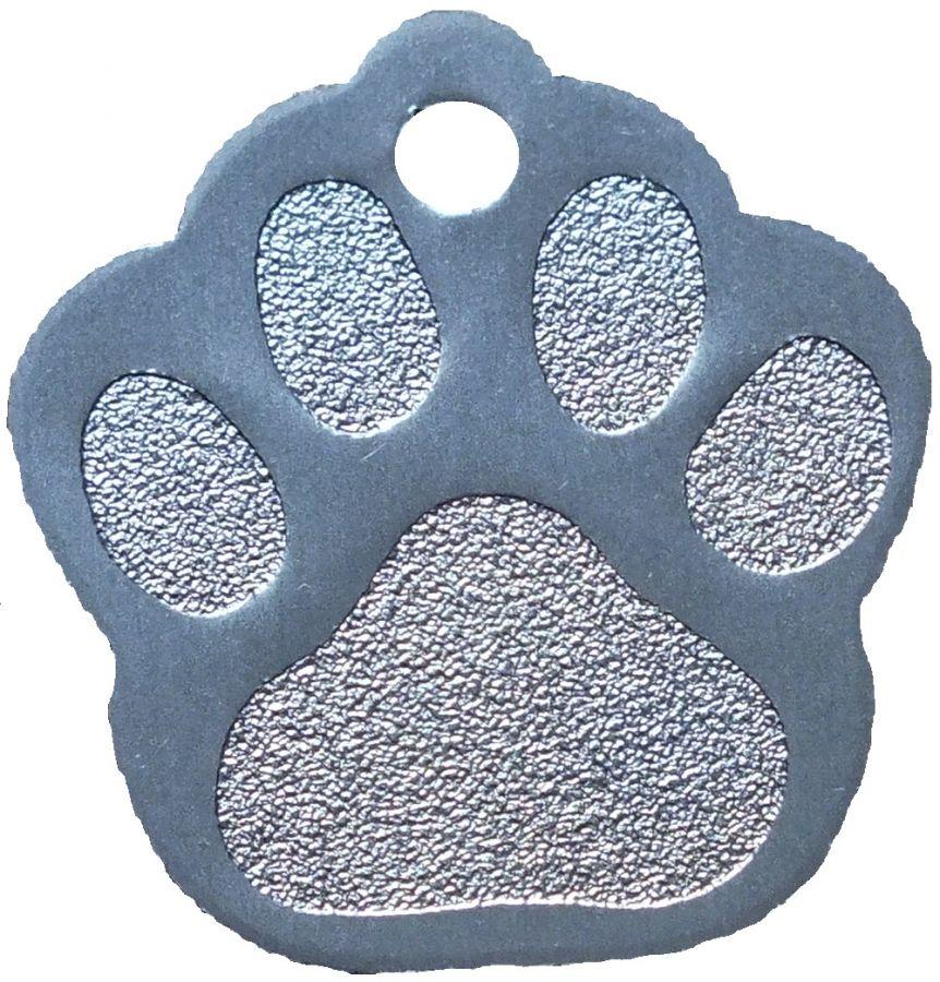 Trixie známka pro psa stříbrná packa s rytím