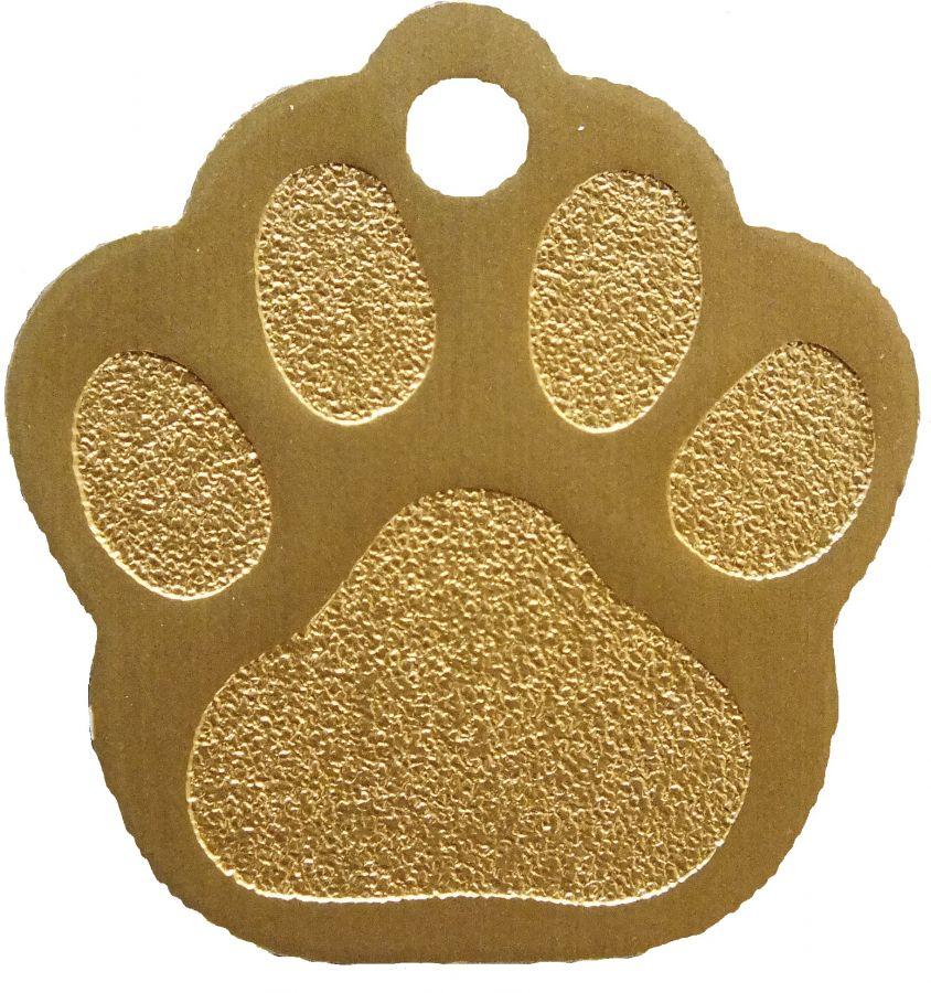 Trixie známka pro psa zlatá packa s rytím