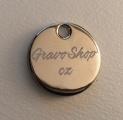Kovový přívěsek na klíče s žetonem do košíku - gravírování textu na žeton ZDARMA