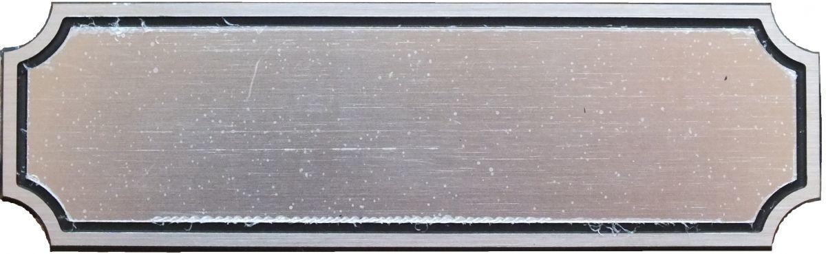 Plastový dveřní štítek 6PH 100x30 mm stříbrný