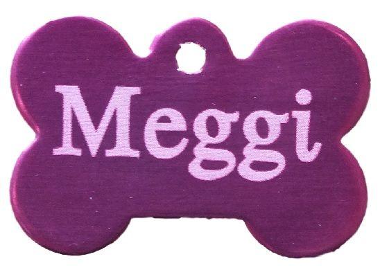 Trixie známka pro psa fialová kost s rytím