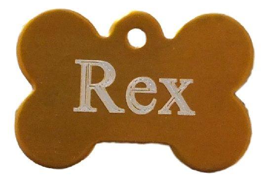 Trixie známka pro psa zlatá kost s rytím