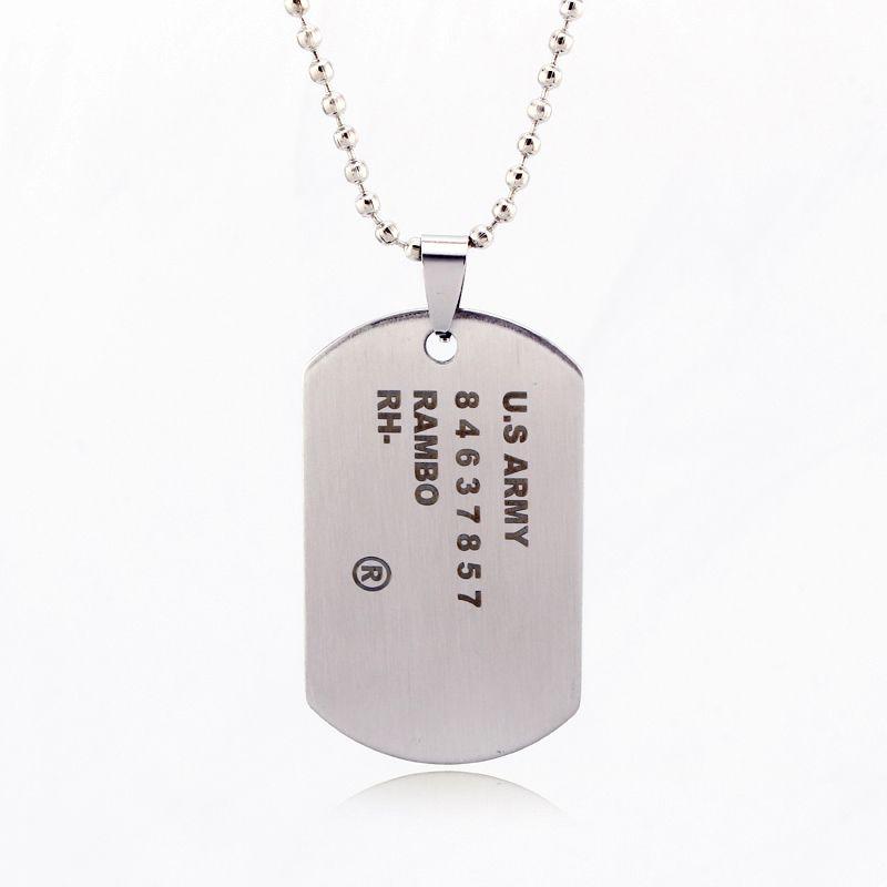 Kovová identifikační známka stříbrná