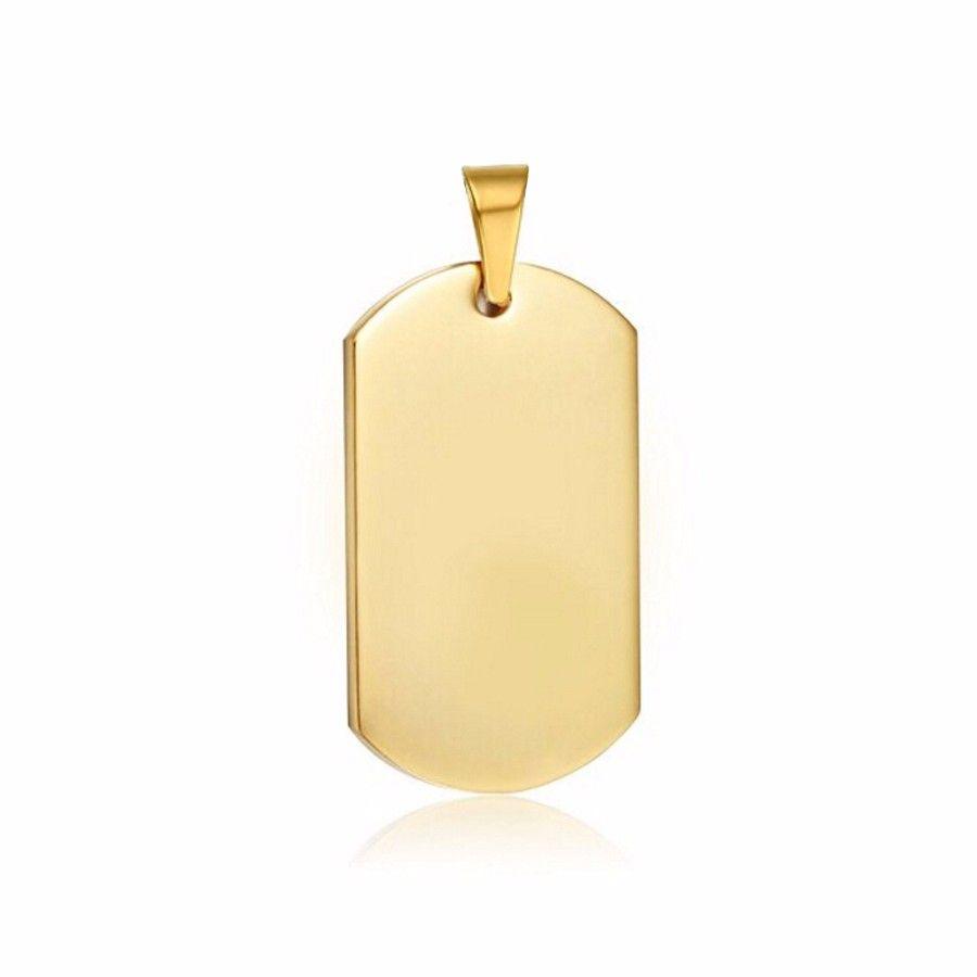 Kovová identifikační známka zlatá