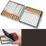 Kožená tabatěrka na 20 cigaret s gravírováním textu