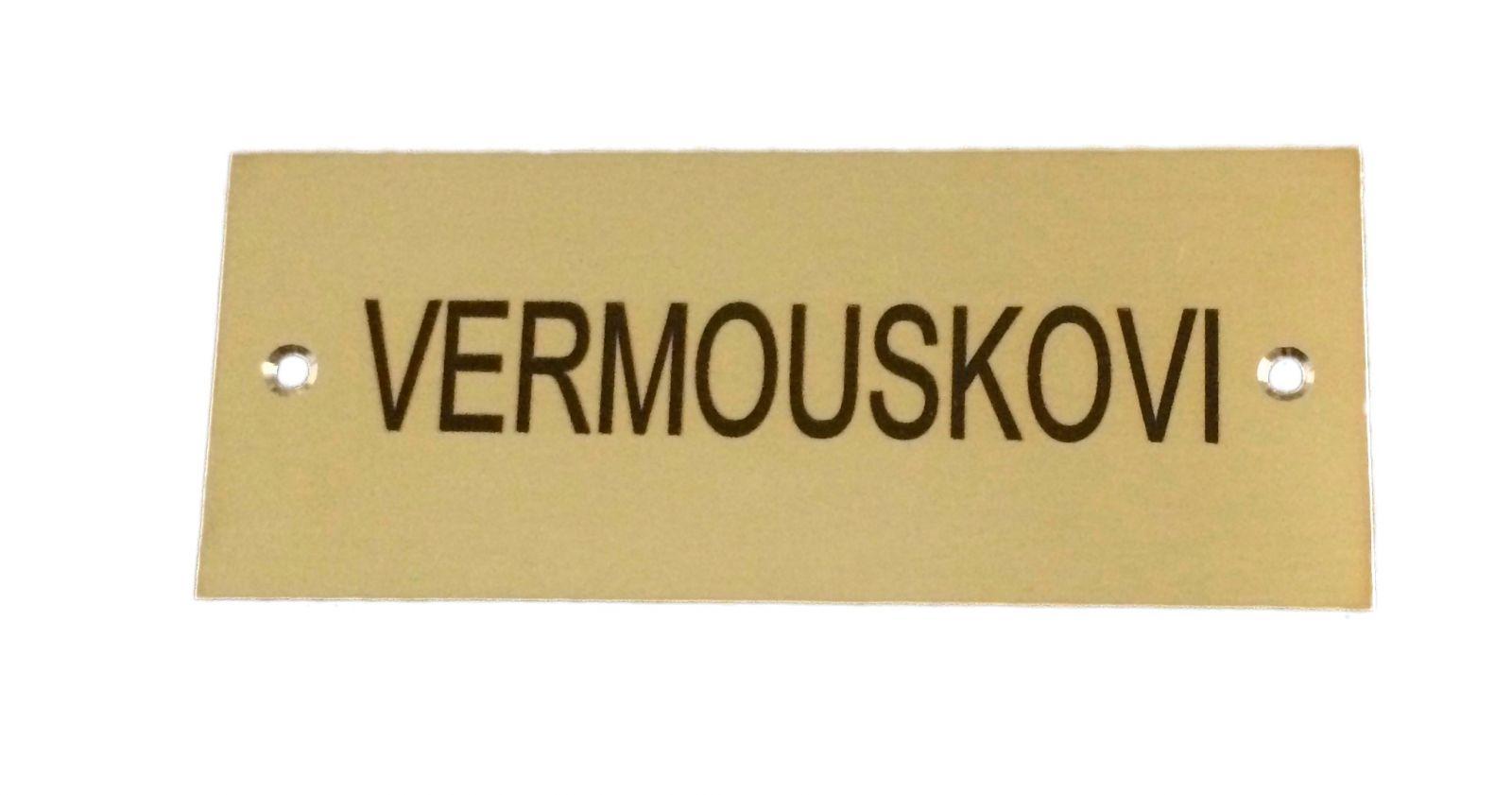 Mosazný dveřní štítek DM92 100x40mm s gravírováním textu