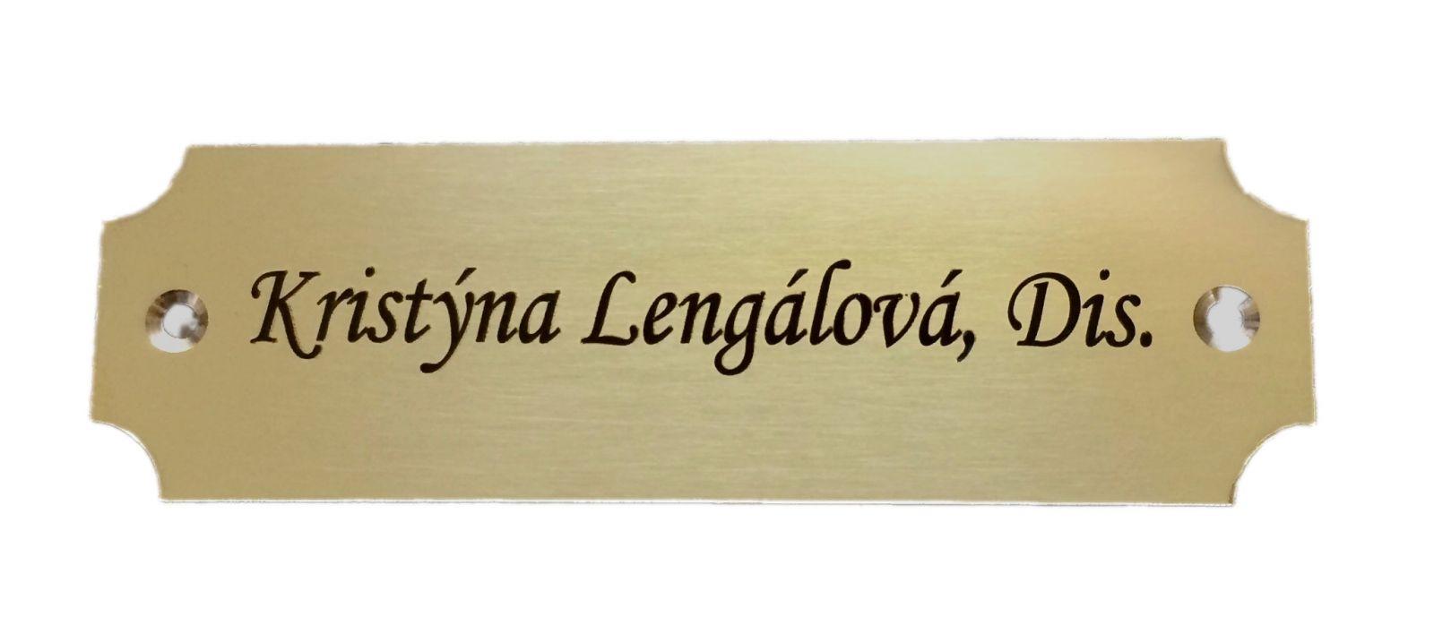 Mosazný dveřní štítek DM95 100x30 mm s gravírováním textu