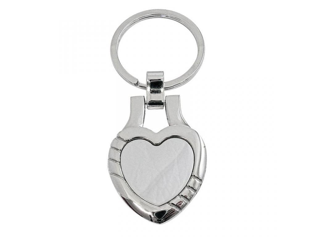 Přívěsek na klíče kovové srdce včetně gravírování