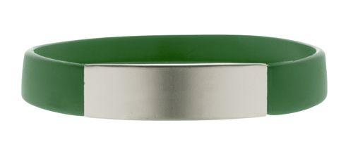 Silikonový náramek s hliníkovou stříbrnou ploškou