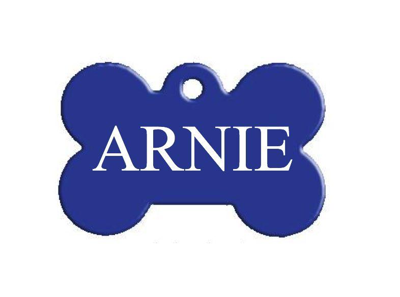 Trixie známka pro psa modrá kost s rytím