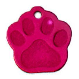 Trixie známka pro psa růžová packa s rytím