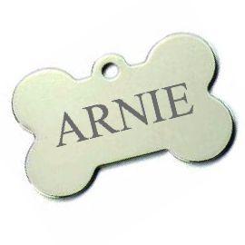 Trixie známka pro psa stříbrná kost s rytím
