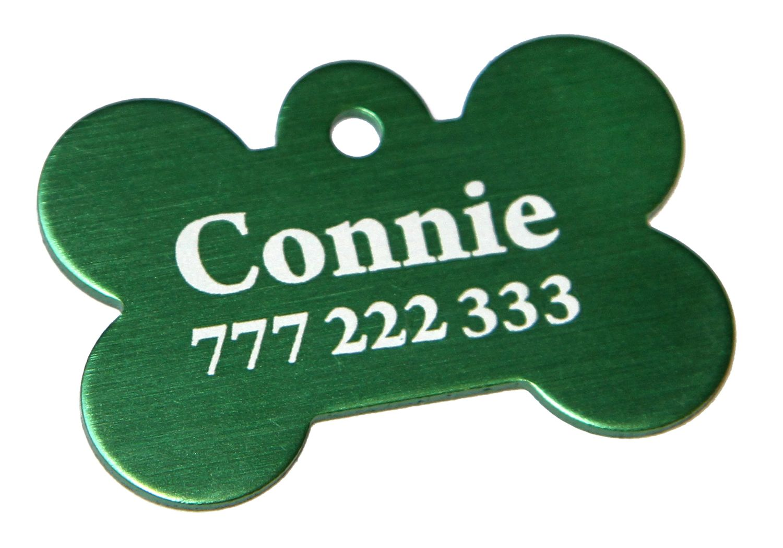 Trixie známka pro psa zelená kost s rytím